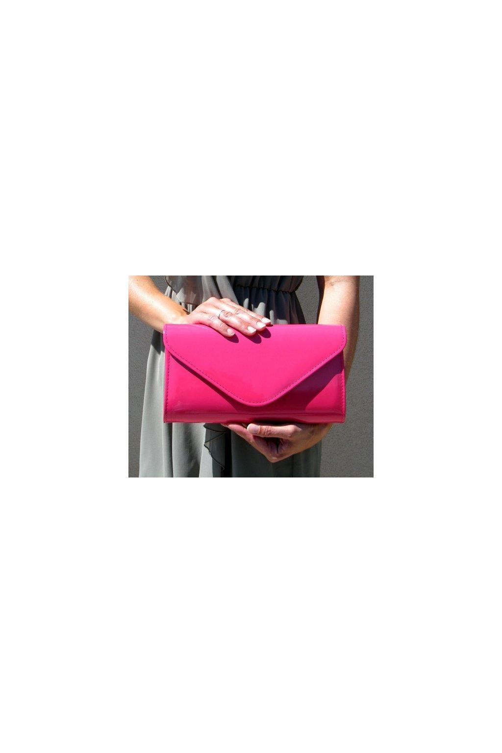 Společenská kabelka pink lak