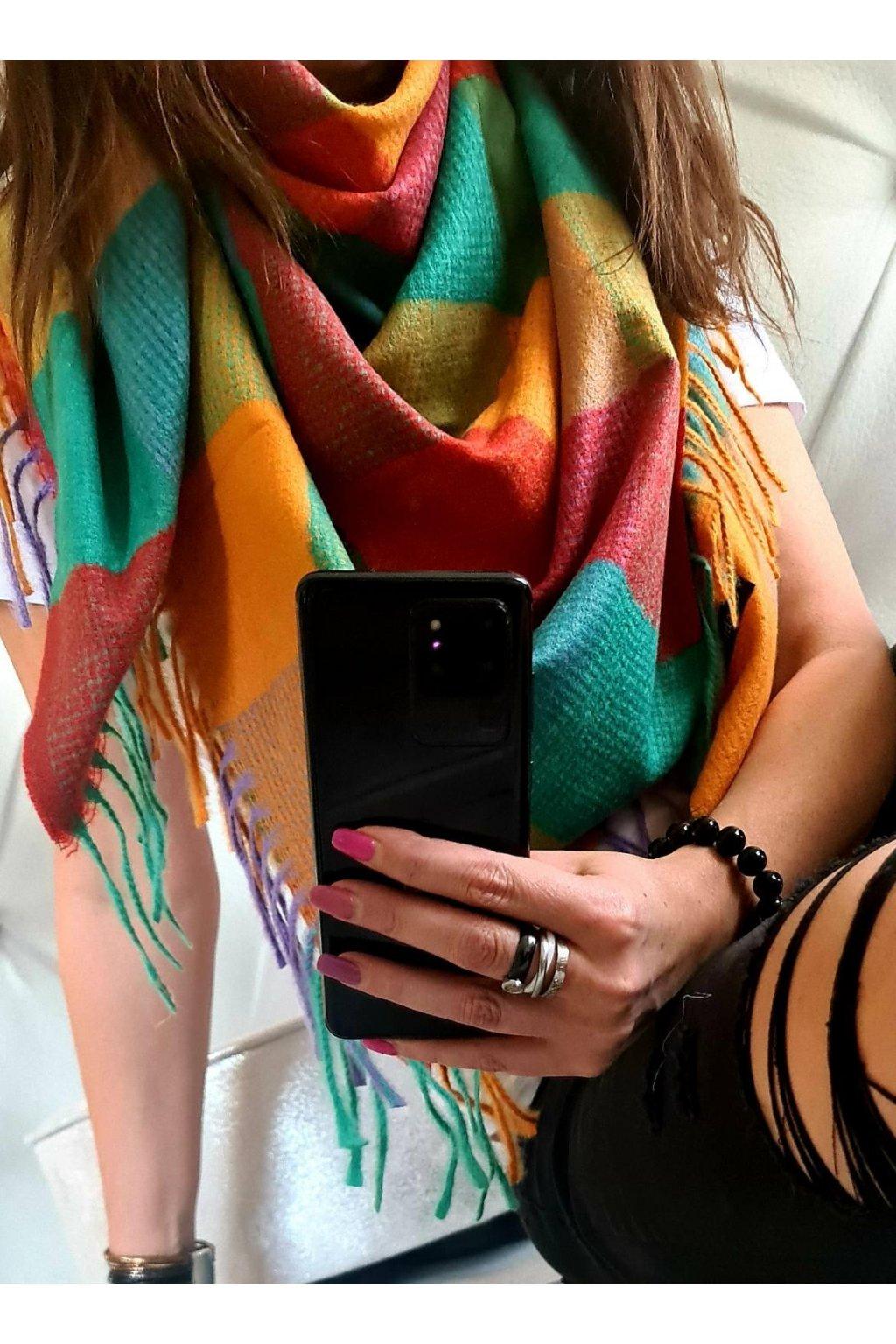 smile color mix II šátek maxi hřejivý