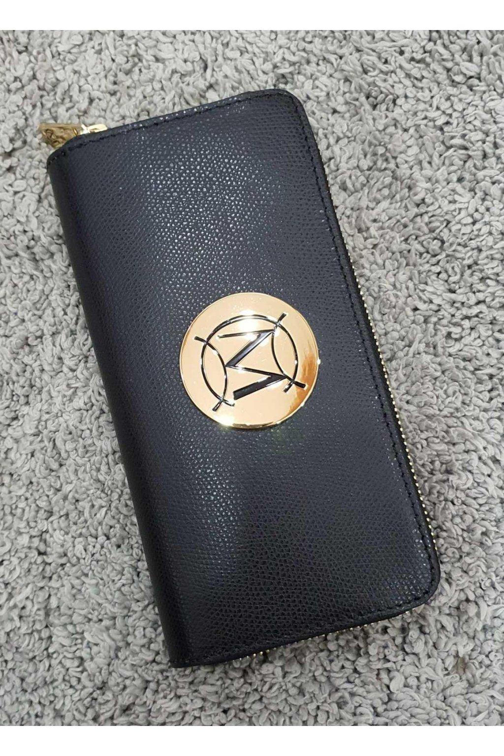 Značková dámská kožená peněženka Massimo černá