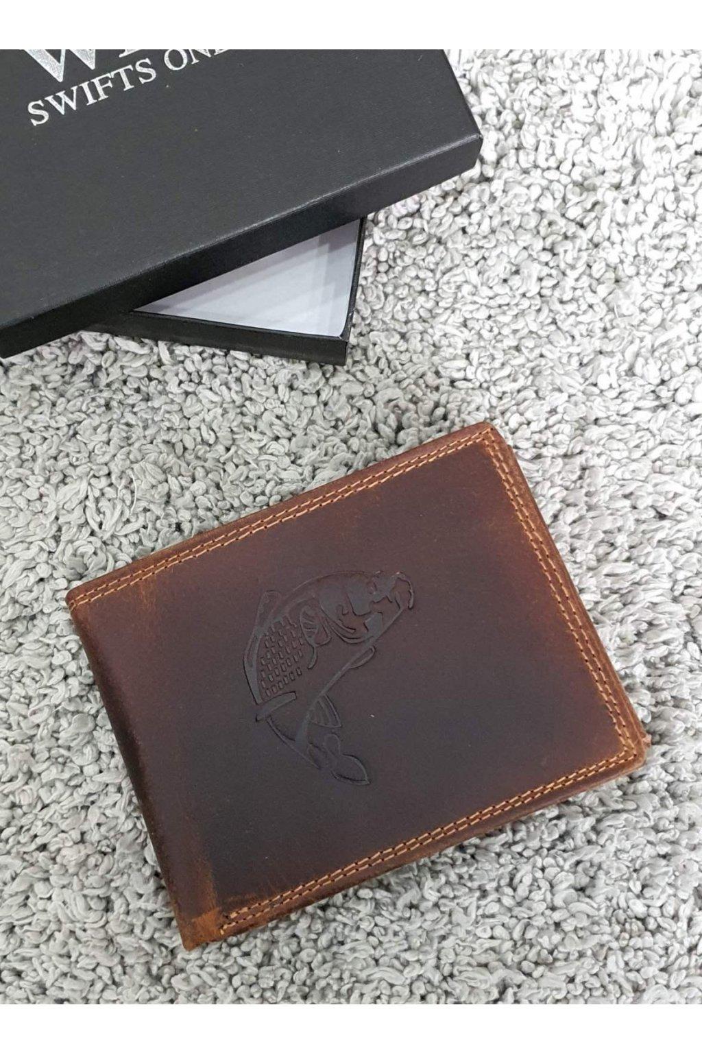Pánská kožená peněženka s kaprem