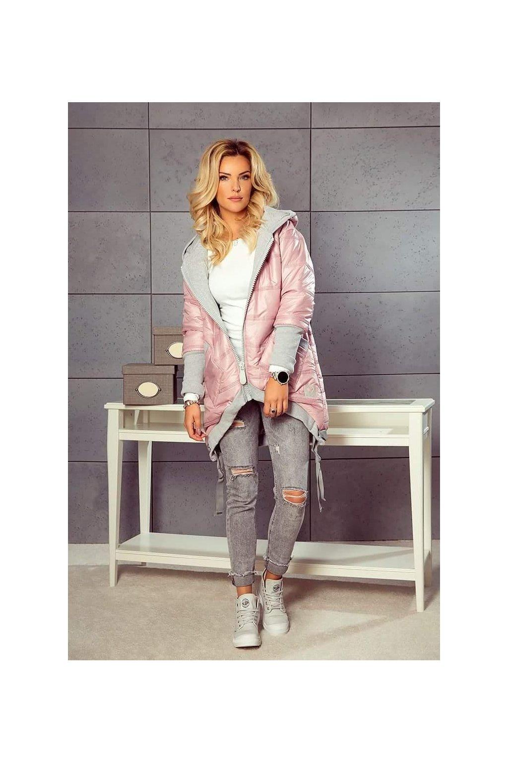 dámská zimní bunda mimi světle růžová