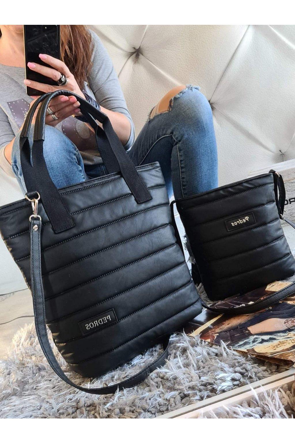 komplet kabelke pedros v černé barvě tip na dárek