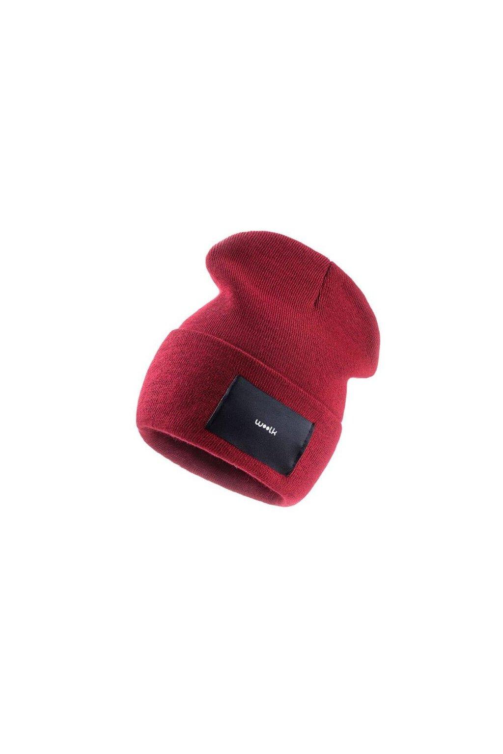 čepice woolk bordó stylová zimní
