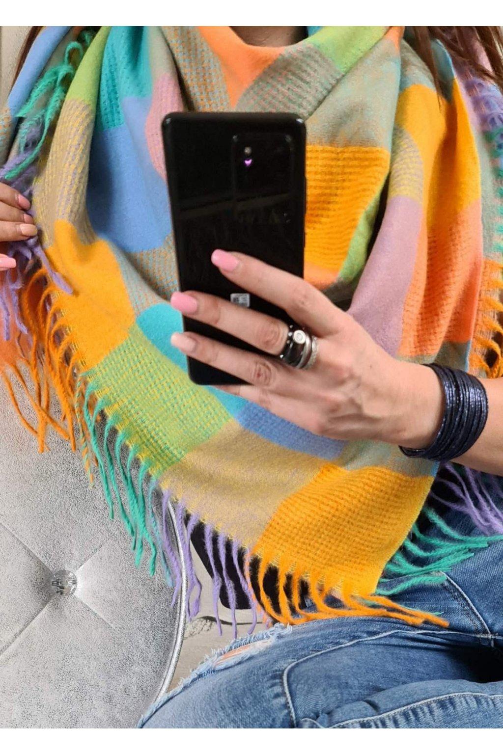 maxi šátek hřejivý smile tip na dárek
