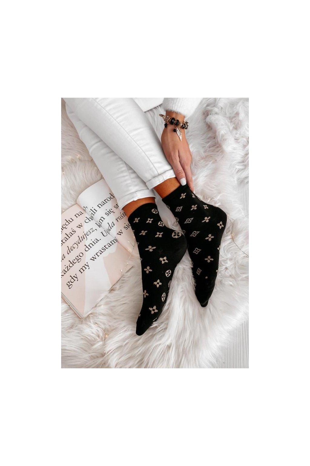 ponožky bavlněné black gold bavlna tip na dárek