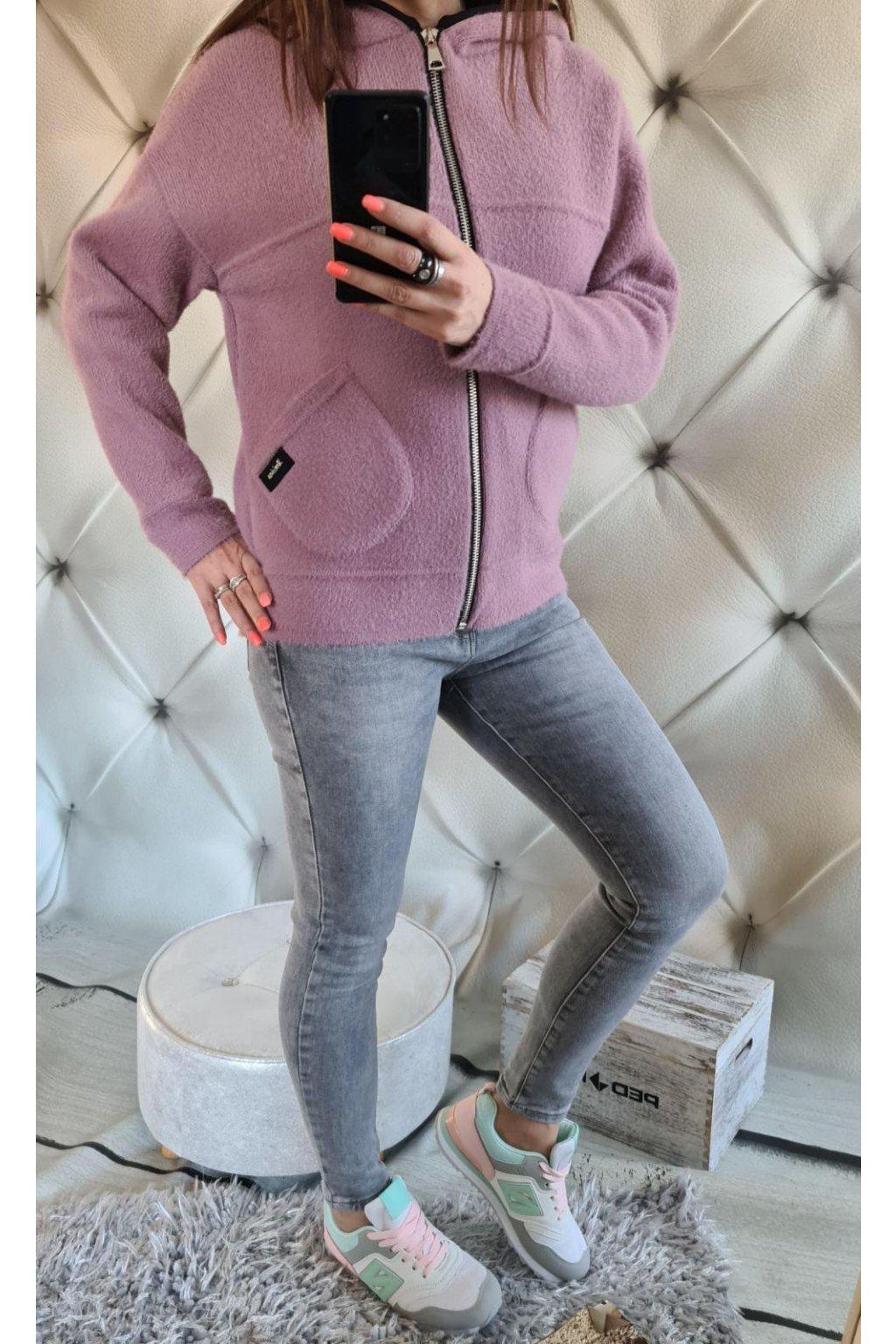 dámská bunda krátká lila barva