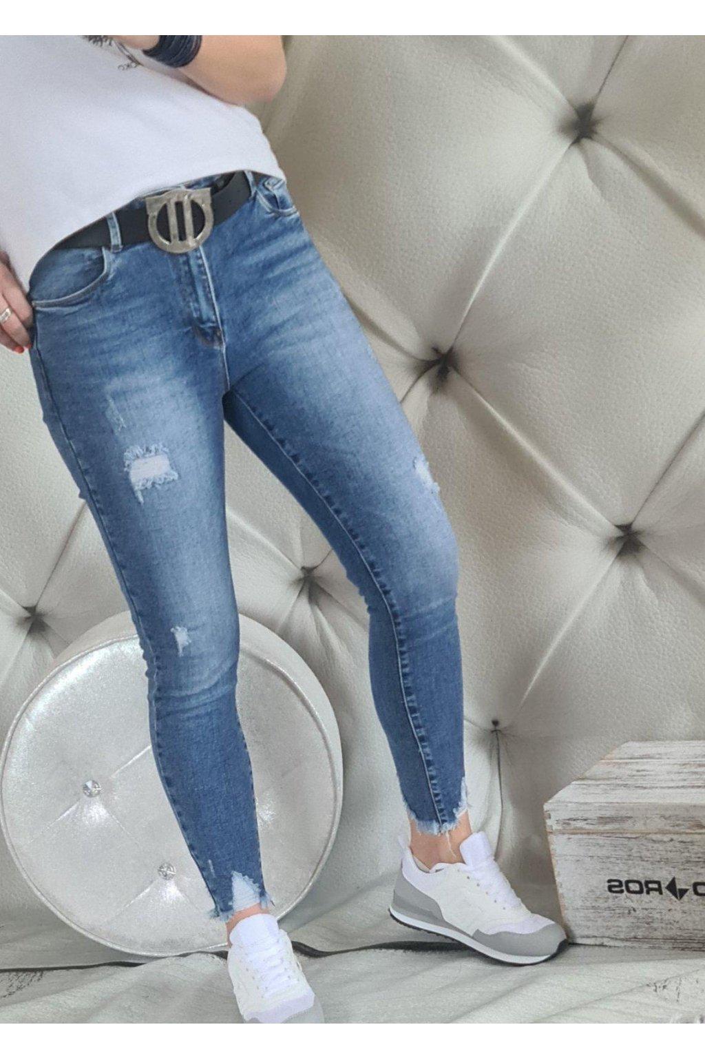 jeans modré elastic pohodlné must have