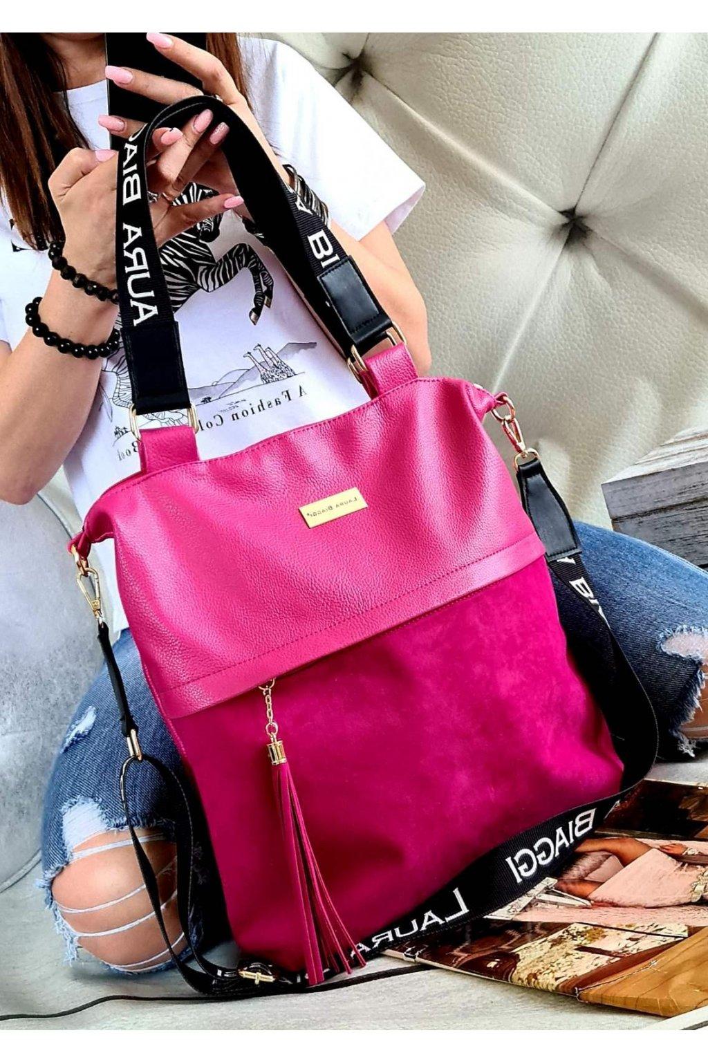 kabelka trendy tmavě růžová laura biaggi kolekce pedros