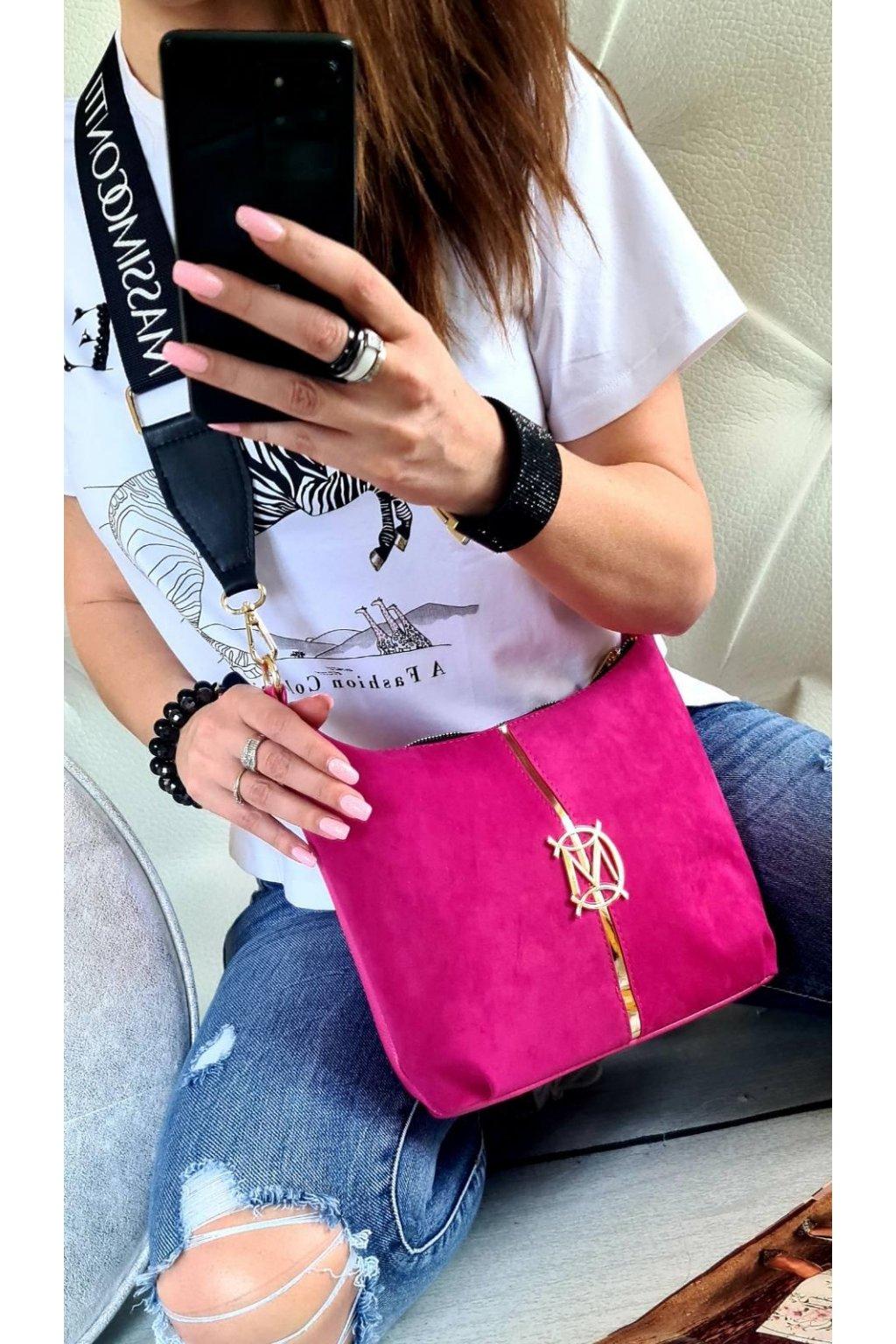 crossbody massimo contti růžová italy style fashion luxusní kabelka must have značková kabelka