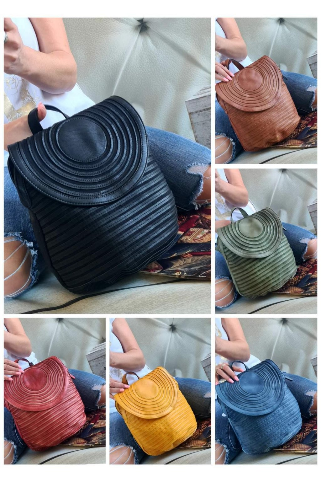 batoh Lookat trendy italy style luxusní batoh menší