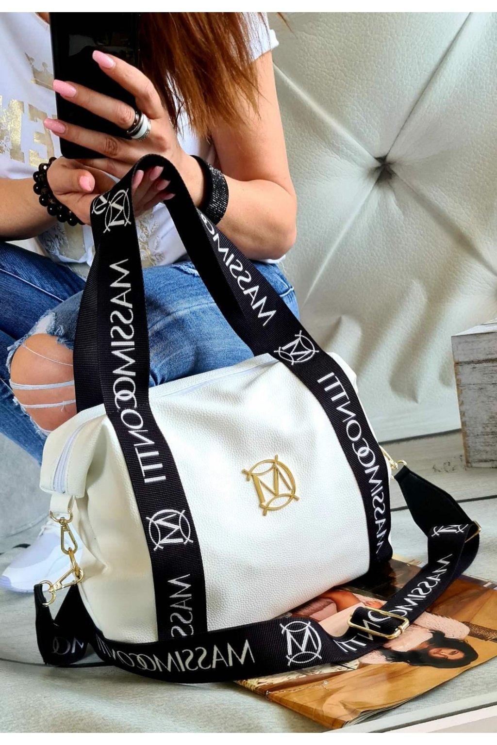 kabelka massimo contti fashion trendy italy style fashion luxusní kabelka luxury bílá