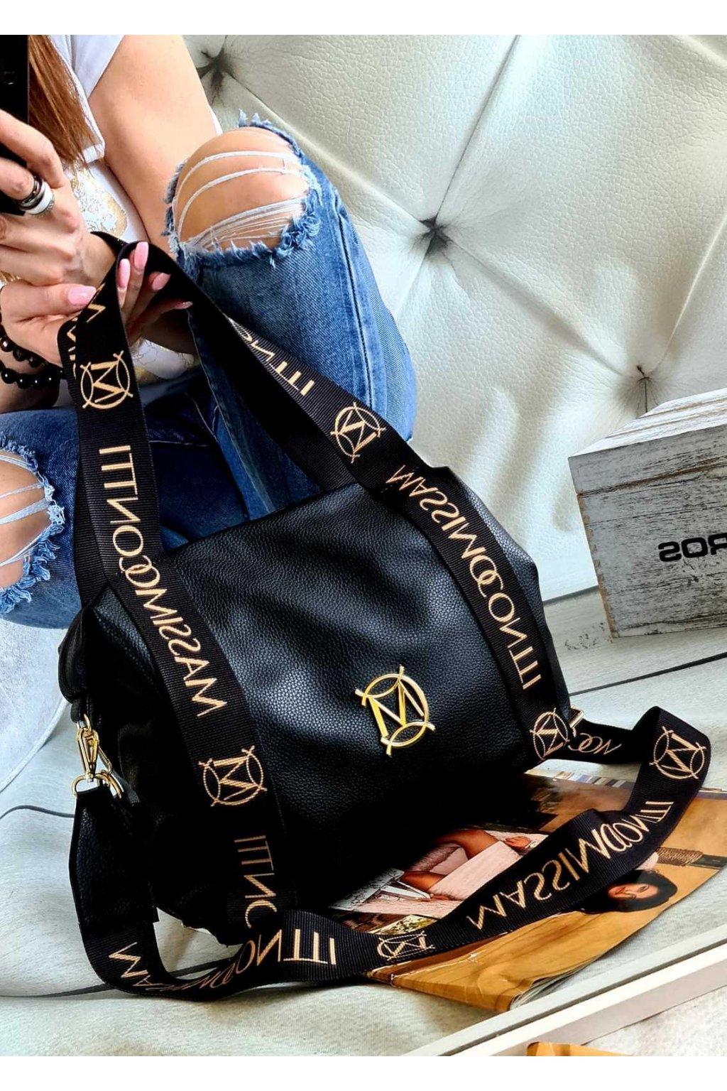 kabelka massimo contti fashion trendy italy style fashion luxusní kabelka luxury černá