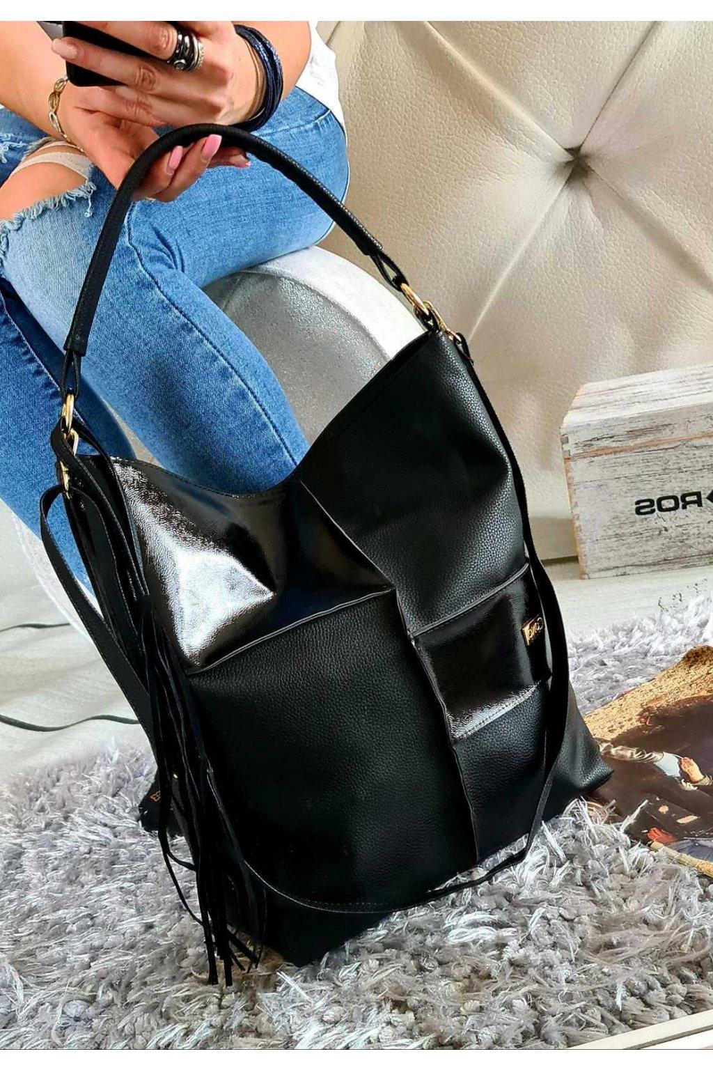 krysten černá kabelka laura biaggi trendy luxusní kabelky značkové