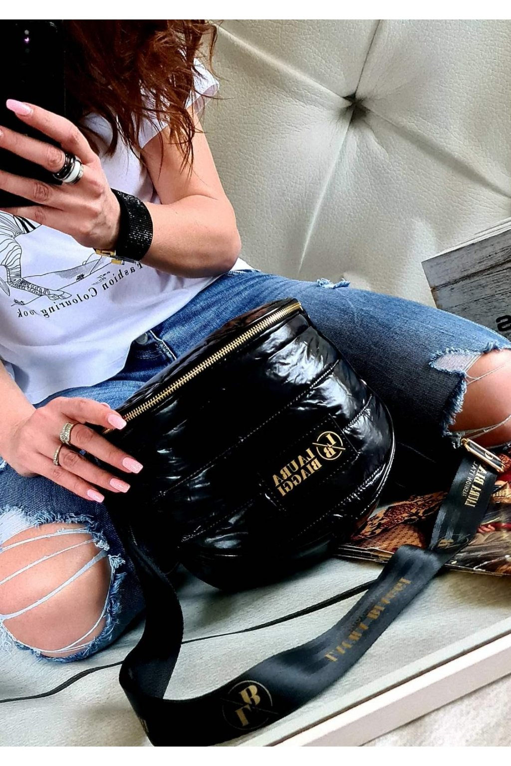 CROSSBODY MANDY Laura Biaggi italy style luxusní kabelka