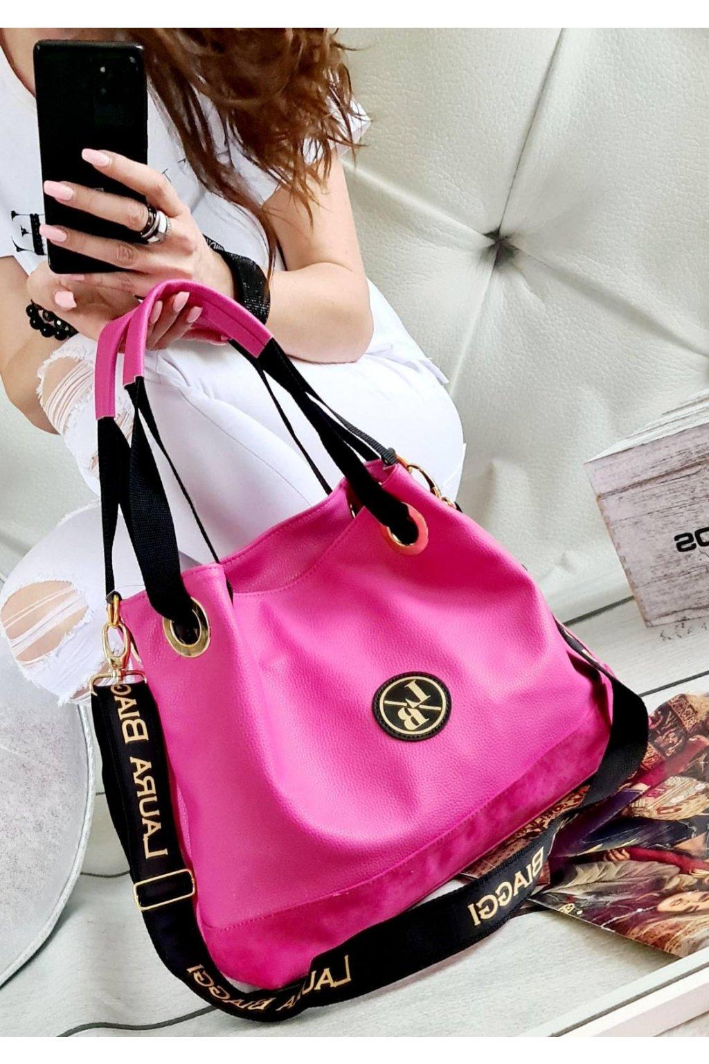 TORRYS růžová pink eko kůže kabelka trendy laura biaggi luxusní značková kabelka