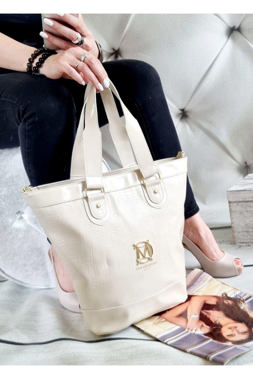 KABELKA MASSIMO contti elegant béžová značková luxusní kabelka