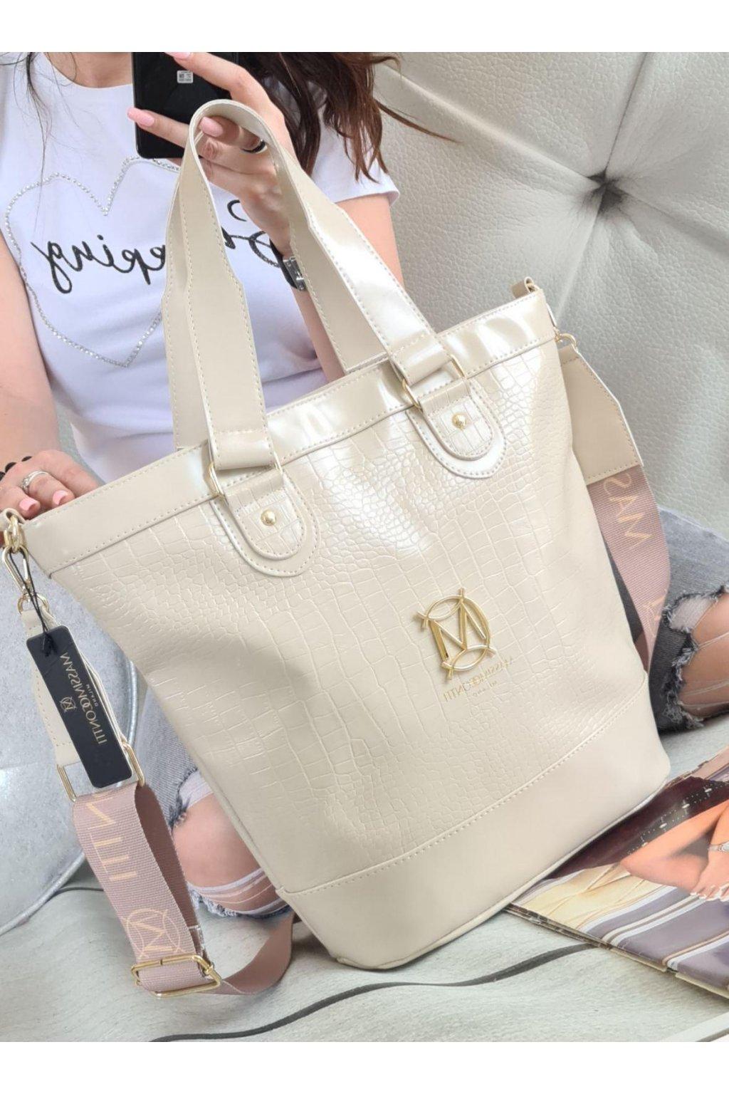 Massimo Contti elegant béžová italy style luxusní kabelka značková A4