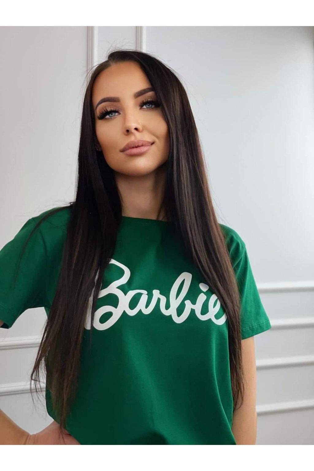 Dámské tričko Barbie zelené