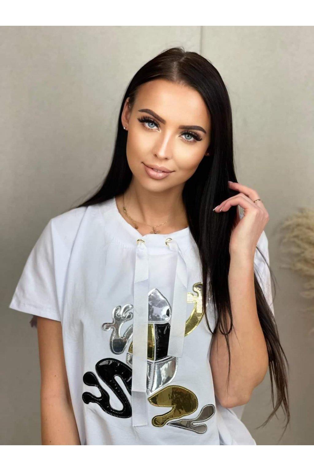 Trendy dámskýé tričko Frogy bílé