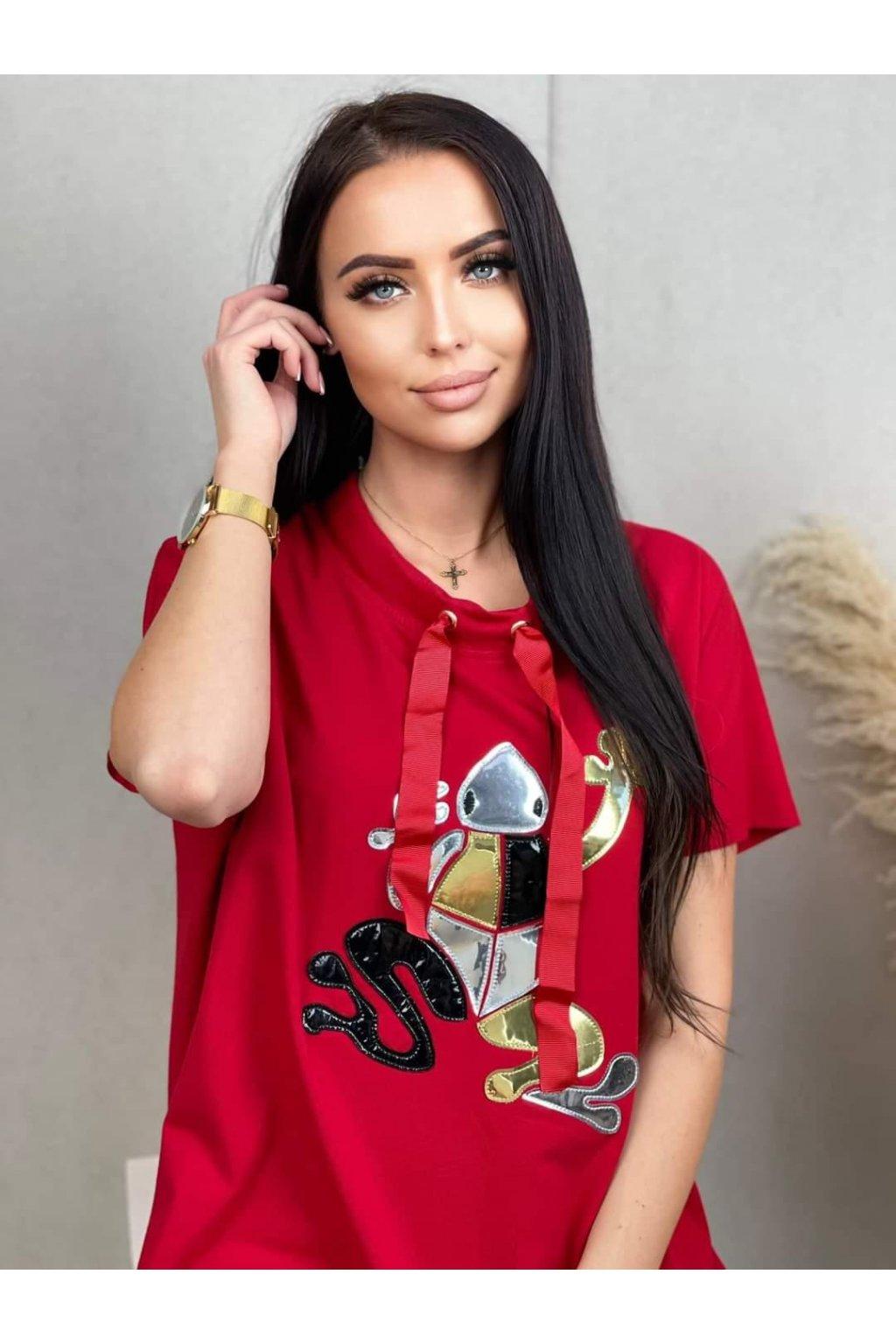 Dámské tričko Frogy červené