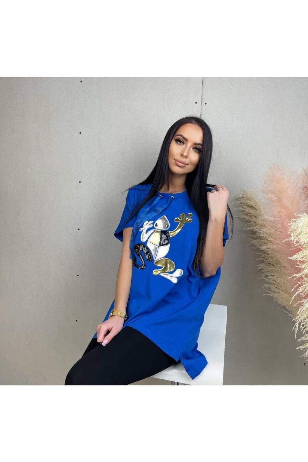 Trendy Dámské tričko Frogy modré