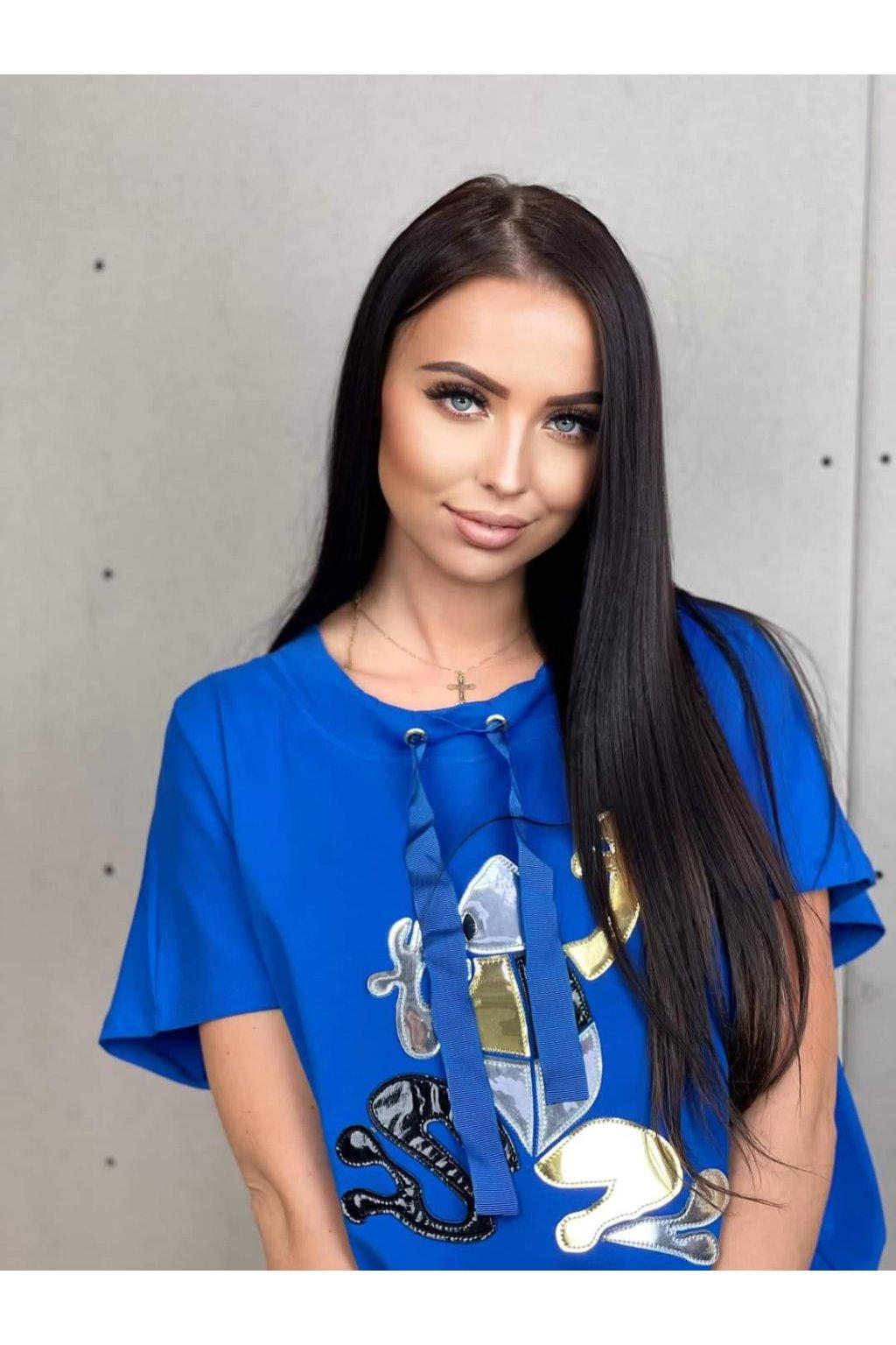 Dámské tričko Frogy modré