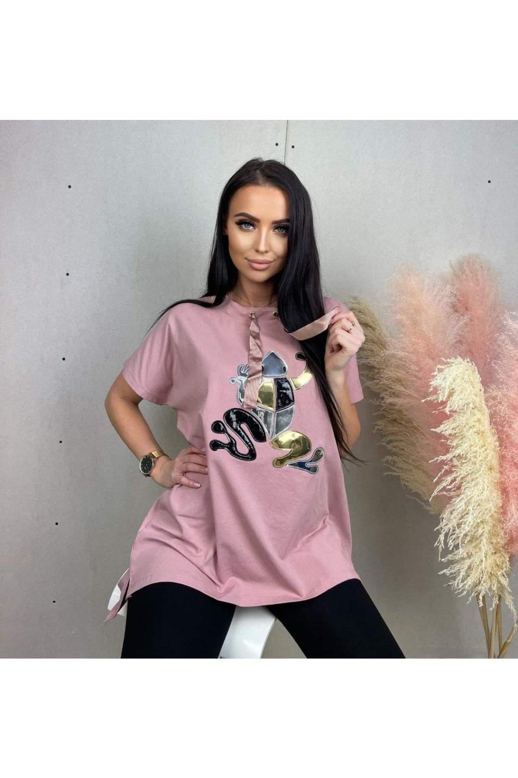 Dámské tričko Frogy růžové