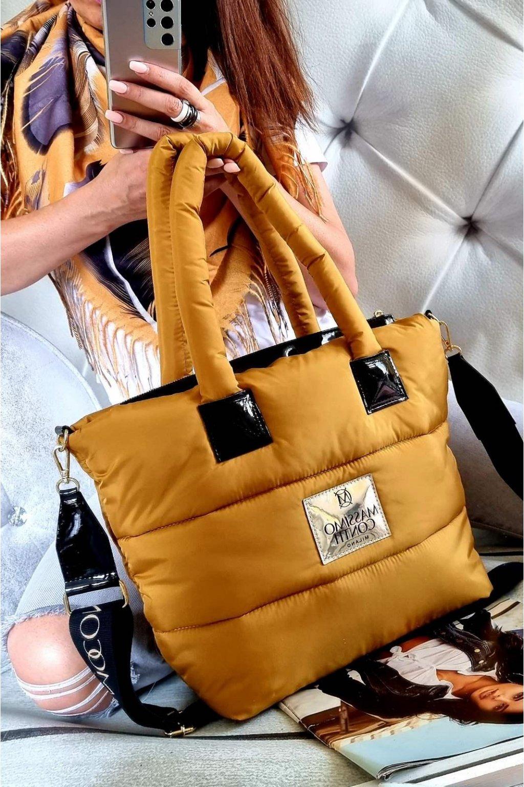 Massimo Contti luxusní značkové kabelky trendy fashion písková