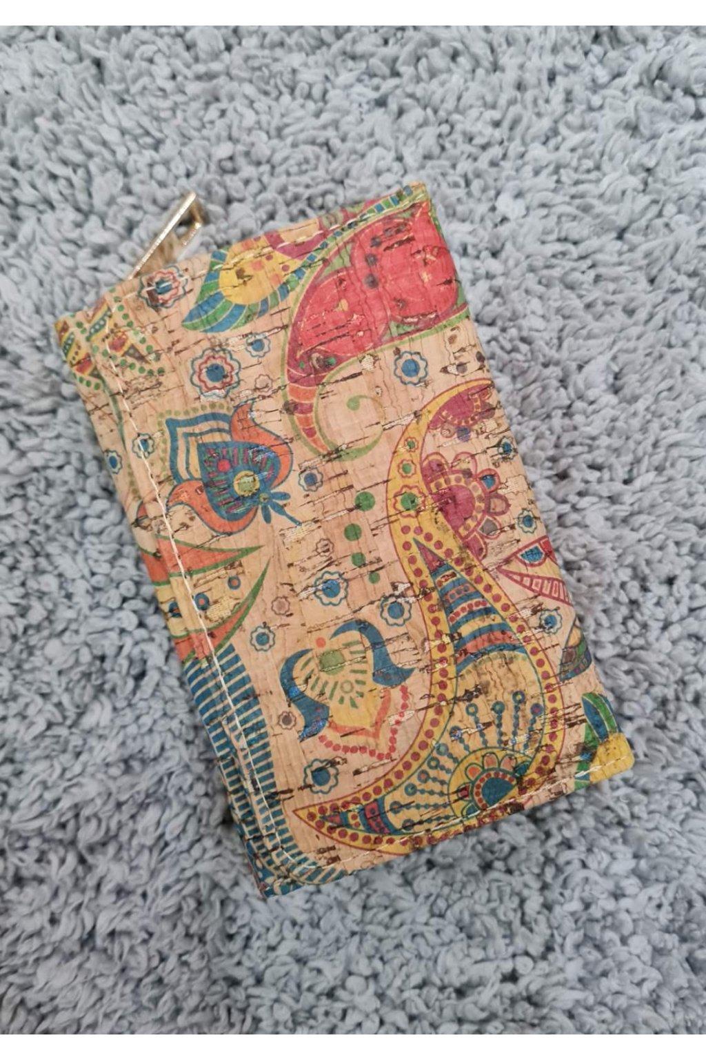 Menší Dámská korková peněženka II