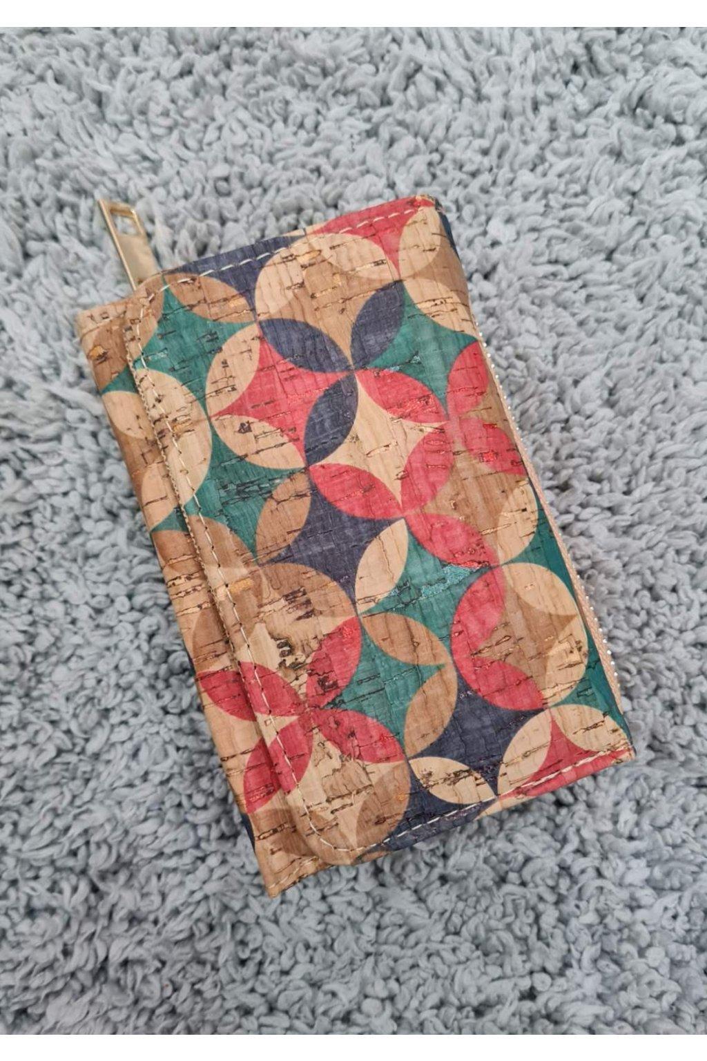 Menší Dámská korková peněženka color