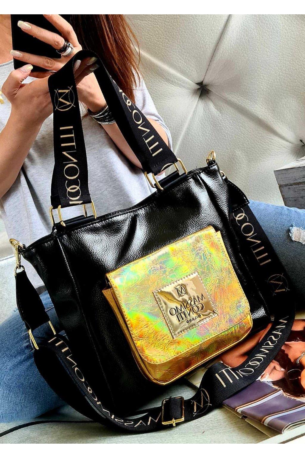 Massimo contti italy style kabelka trendy značková luxusní černá mini