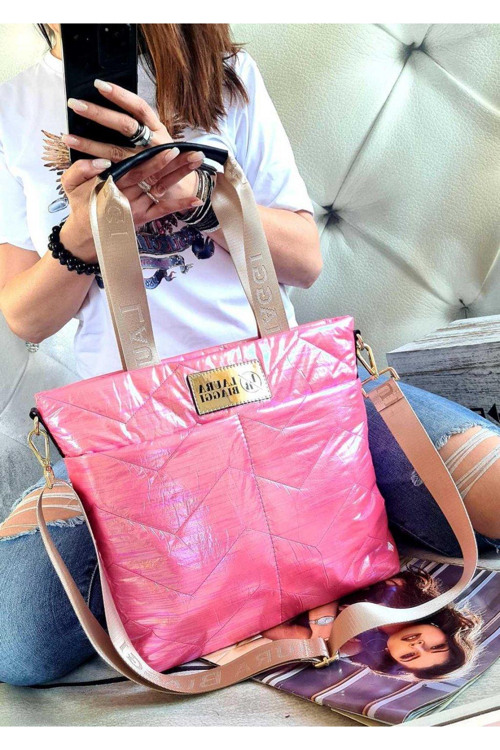 Kabelka Laura Biaggi pink mini luxusní sportovní značková kabelka