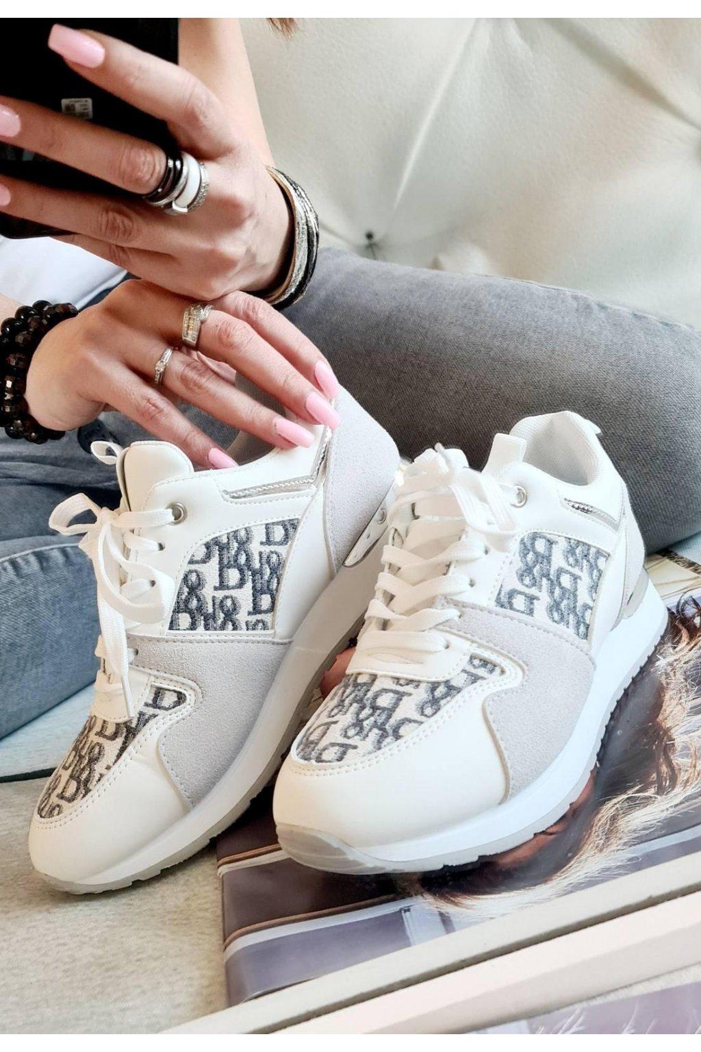 SPORTOVNÍ BOTY trendy bílé white Harley