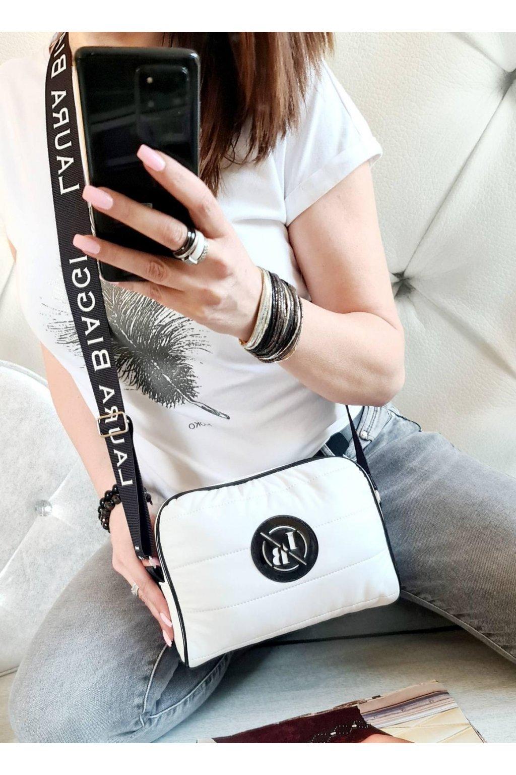 crossbody laura biaggi sport bílá italy fashion luxusní značková kabelka