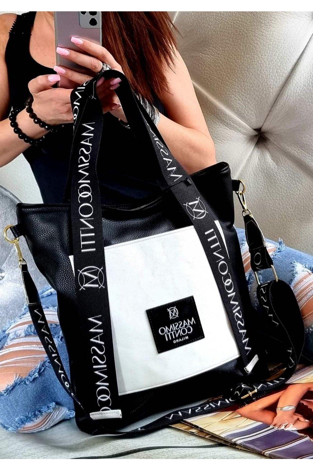 Massimo contti značková kabelka luxusní černobílá top design