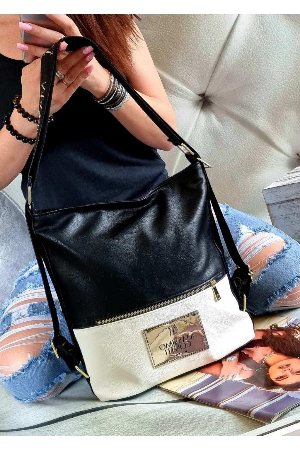 MASSIMO CONNTI kabelkobatoh značková kabelka luxusní crossbody černá top design