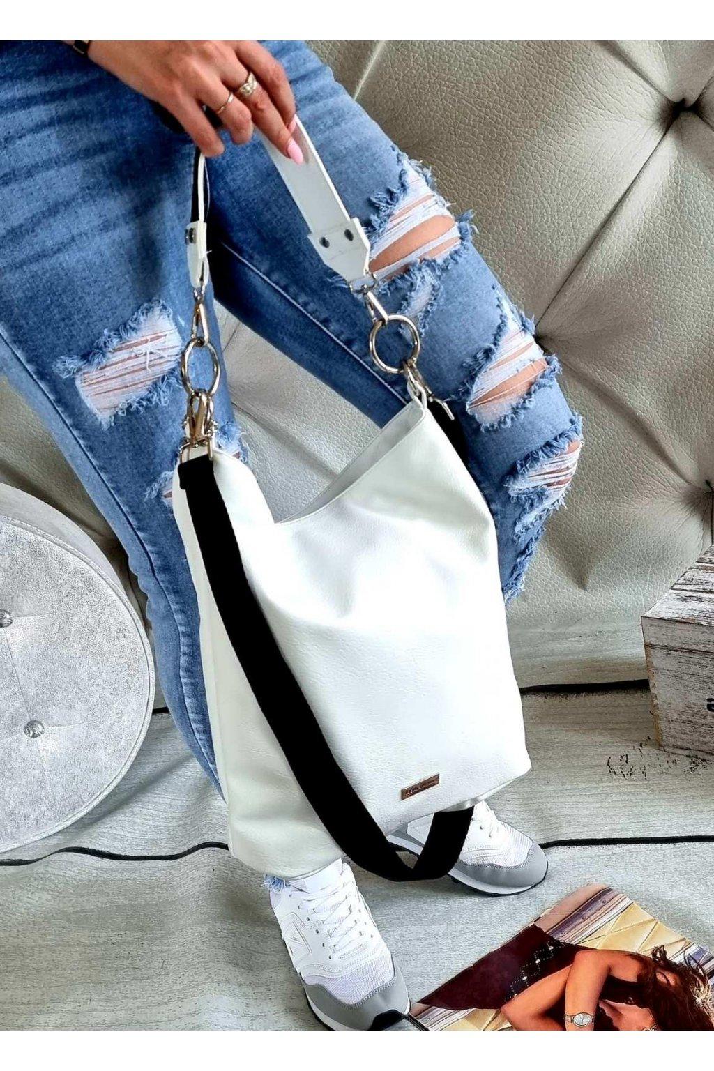 LAURA BIAGGI pytel vak bílý trendy kabelka luxusní značková italy style white
