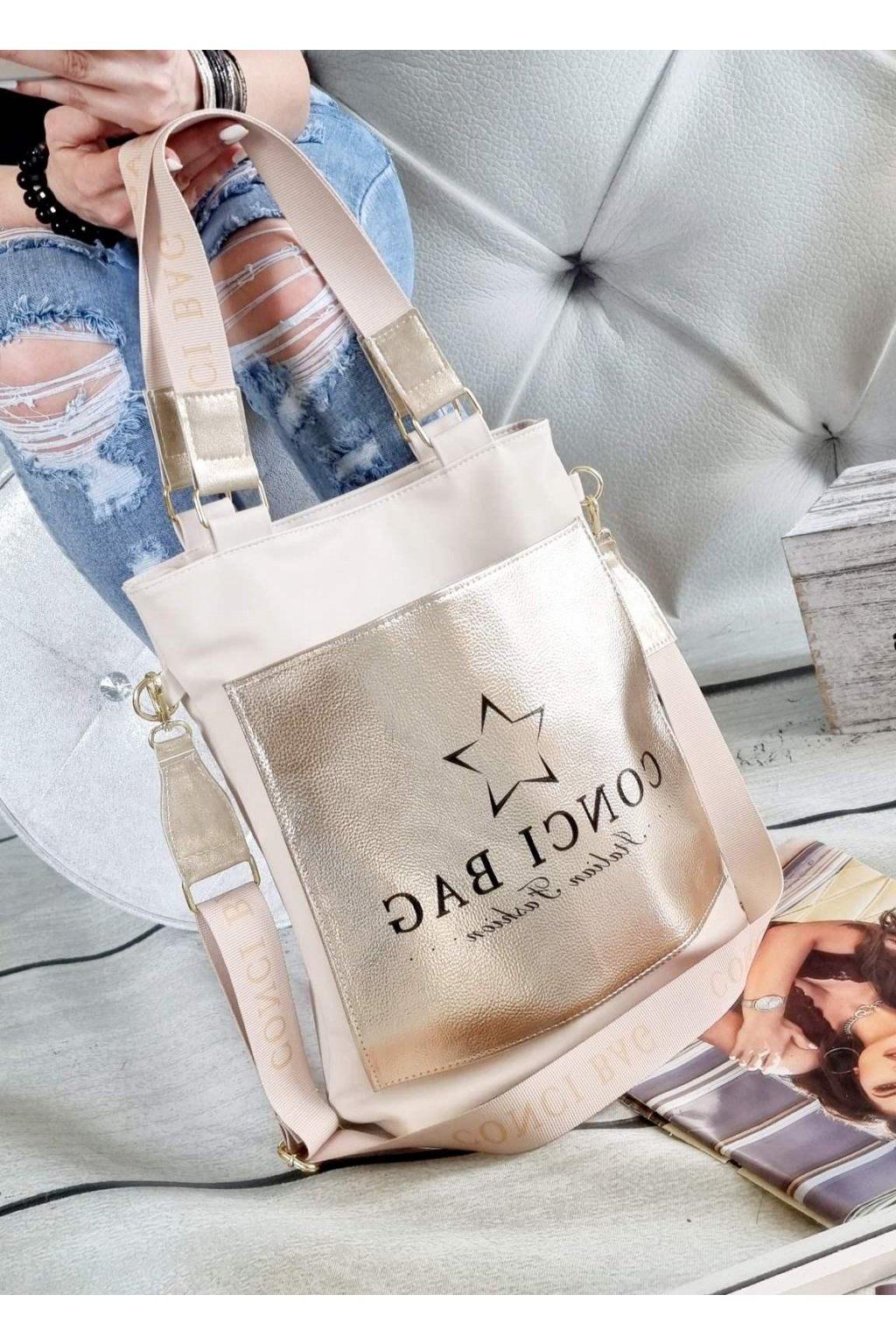 MARYLIN béžová značková luxusní kabelka trendy