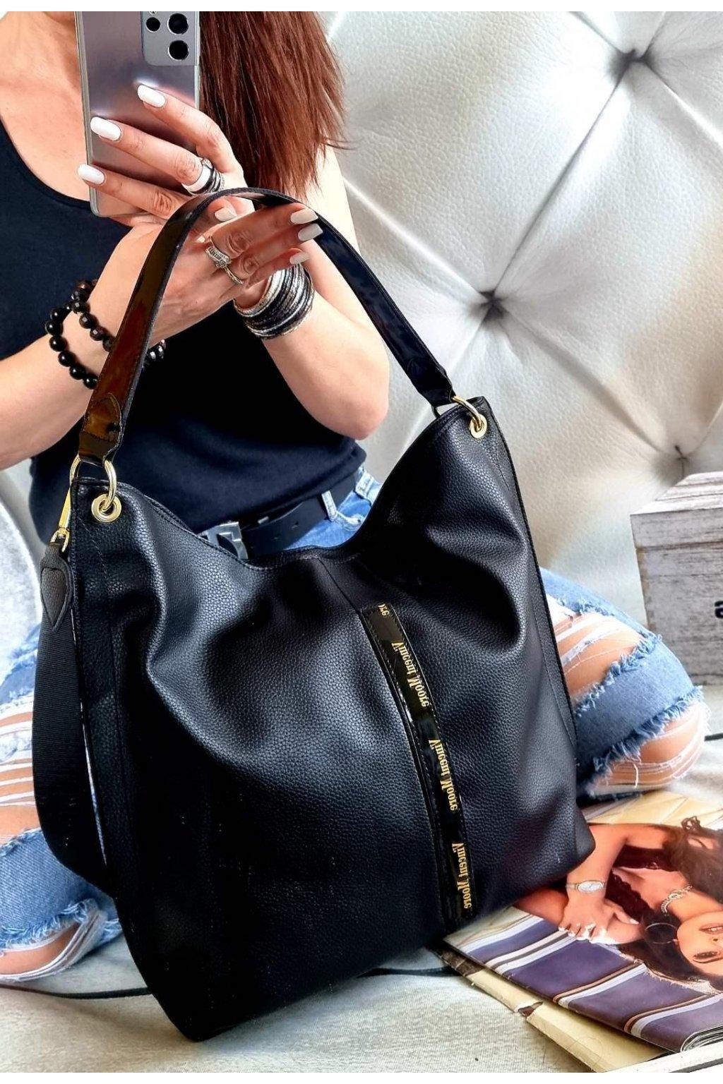 KABELKA VINCENTO MOORE trendy značková luxusní kabelka černá