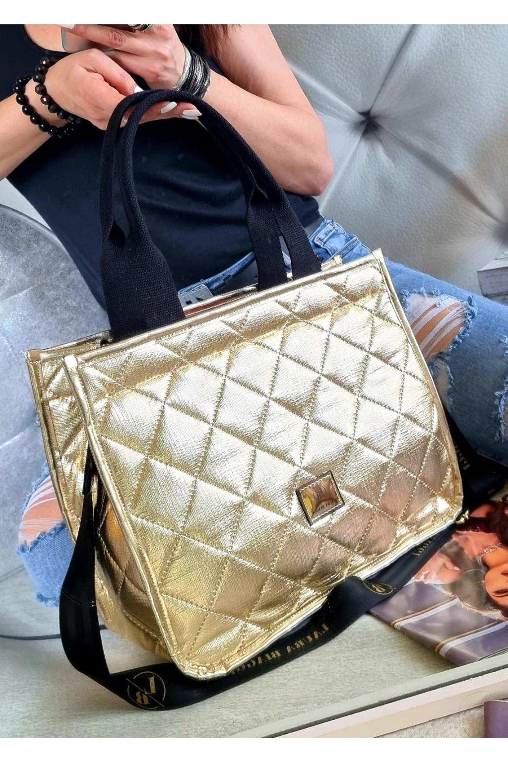 Laura biaggi kabelka trendy značková luxusní kabelka zlatá easy