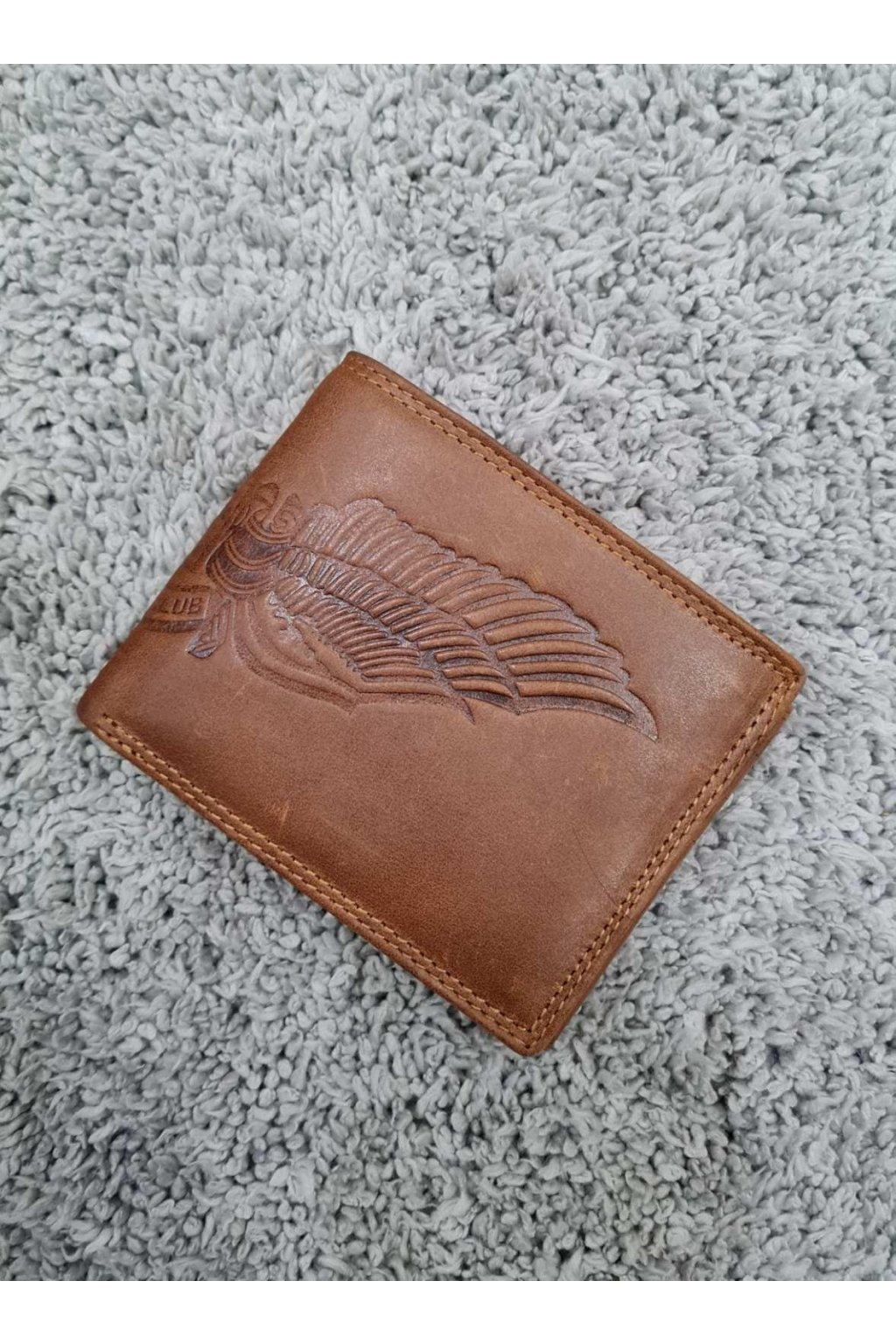 Pánská kožená peněženka Wing hnědá