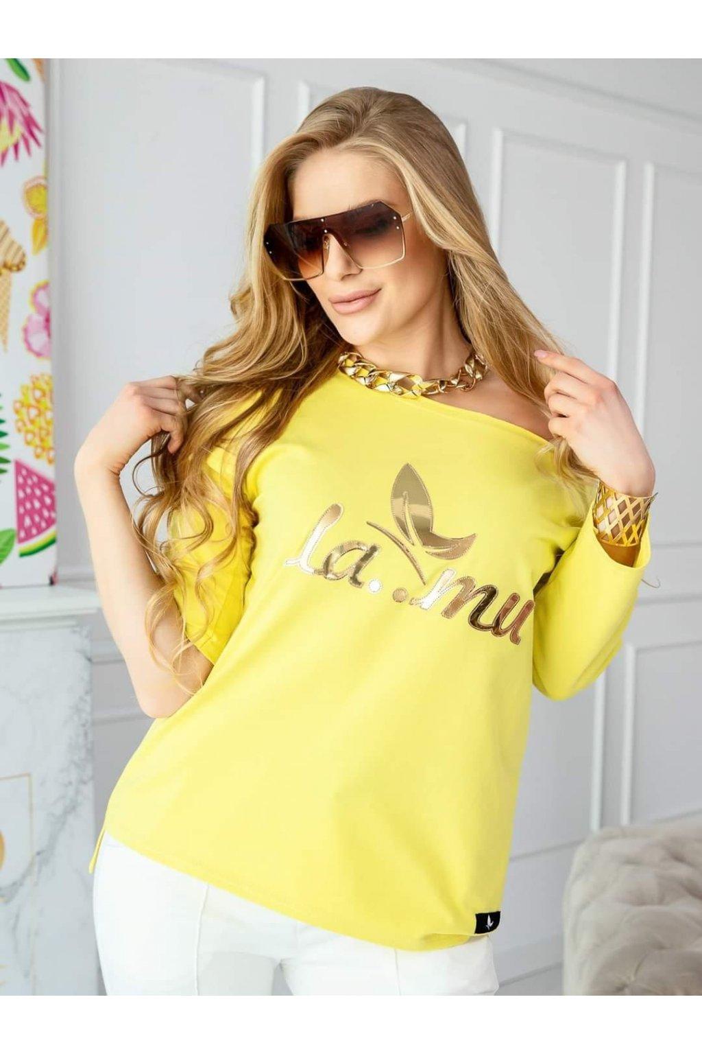triko lamu black trendy polsa vyroba žlutá