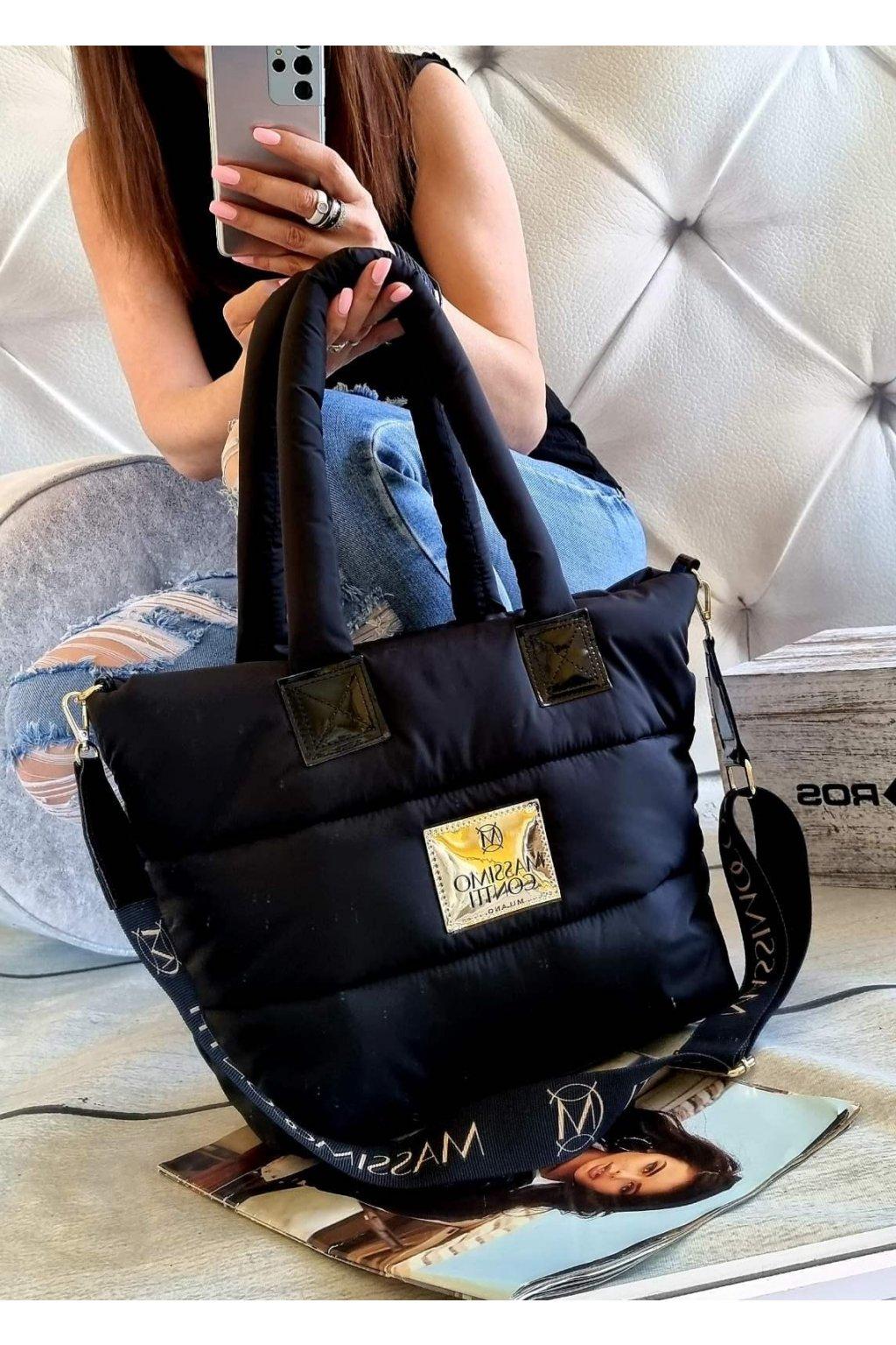 Massimo contti italy fashion trendy luxusní značková kabelka černá black