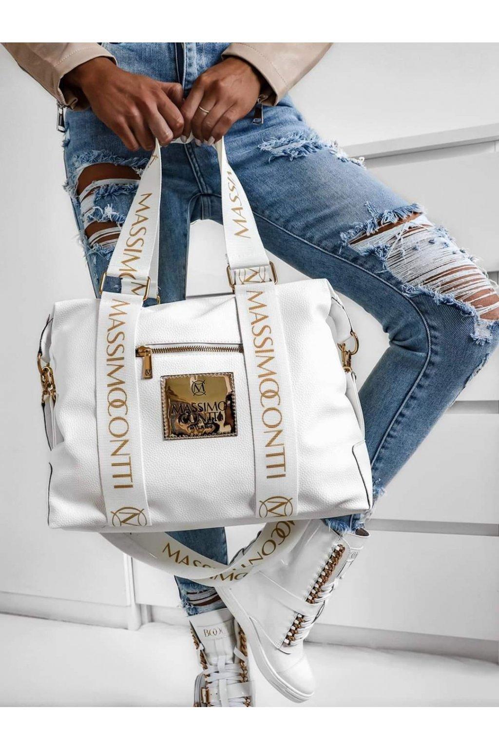 Massimo contii italy fashion kabelka trendy bílá white