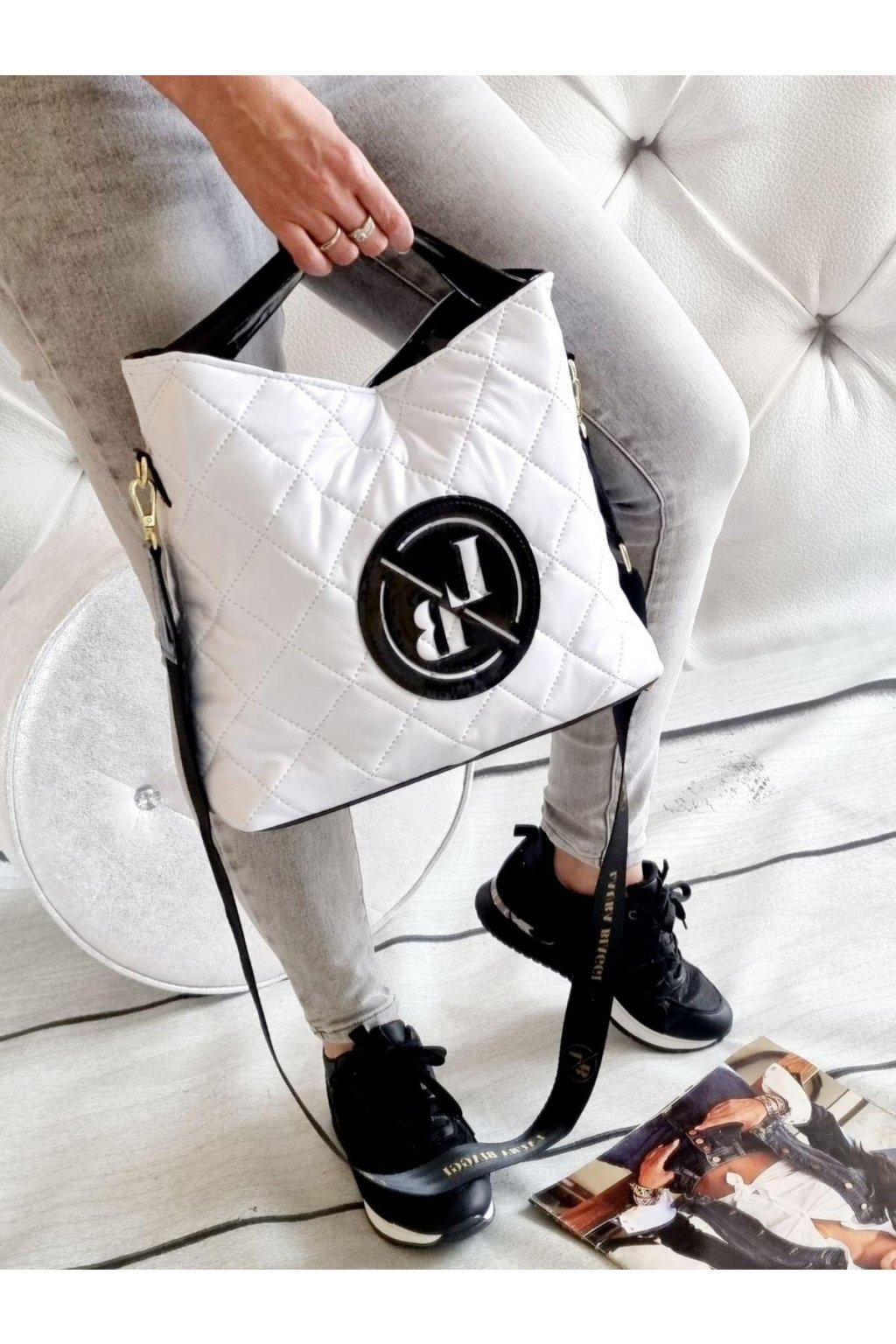 laura biaggi kabelka trendy značková luxusní kabelka bílá