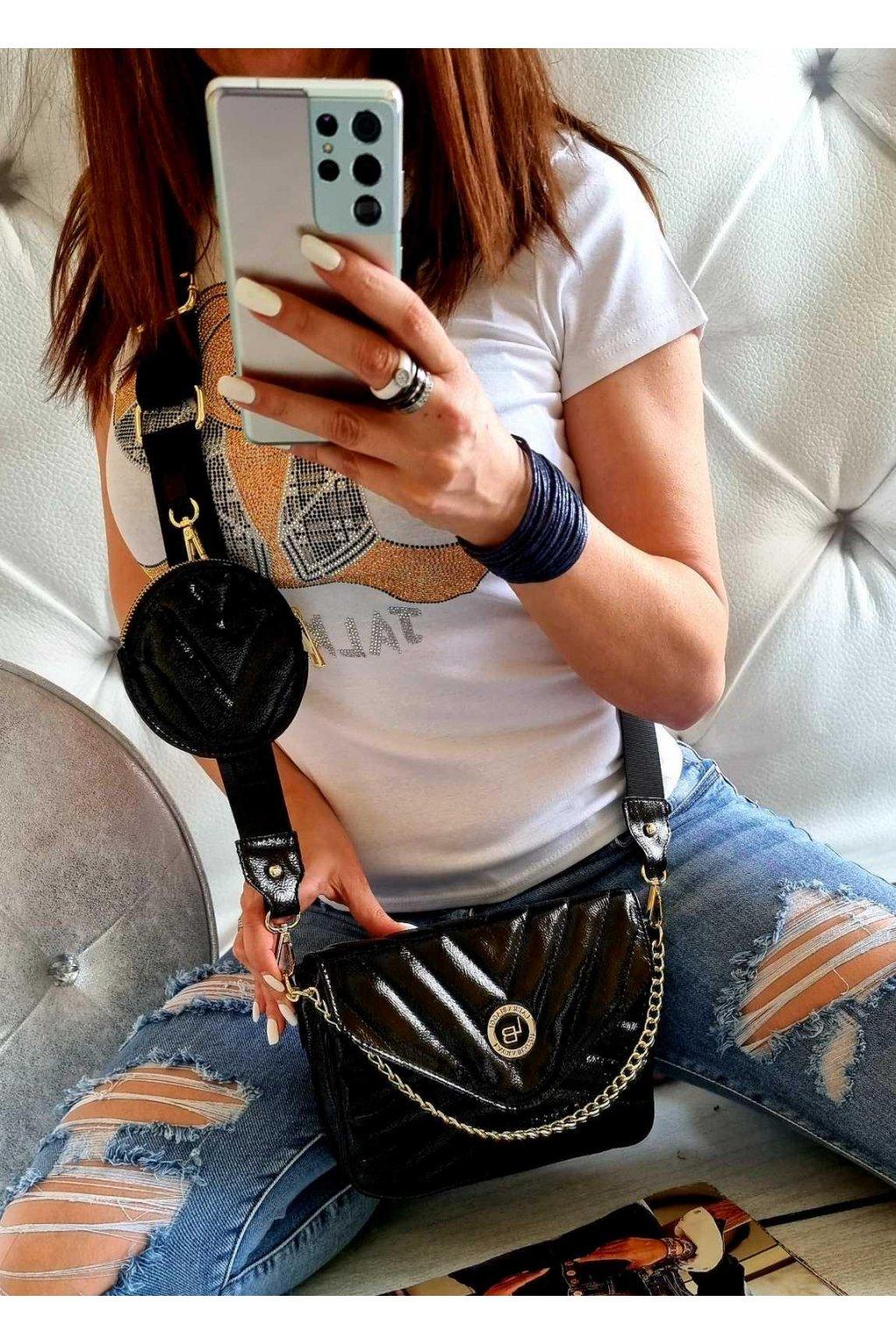 Laura Biaggi crossbody kabelka trendy značková luxusní kabelka