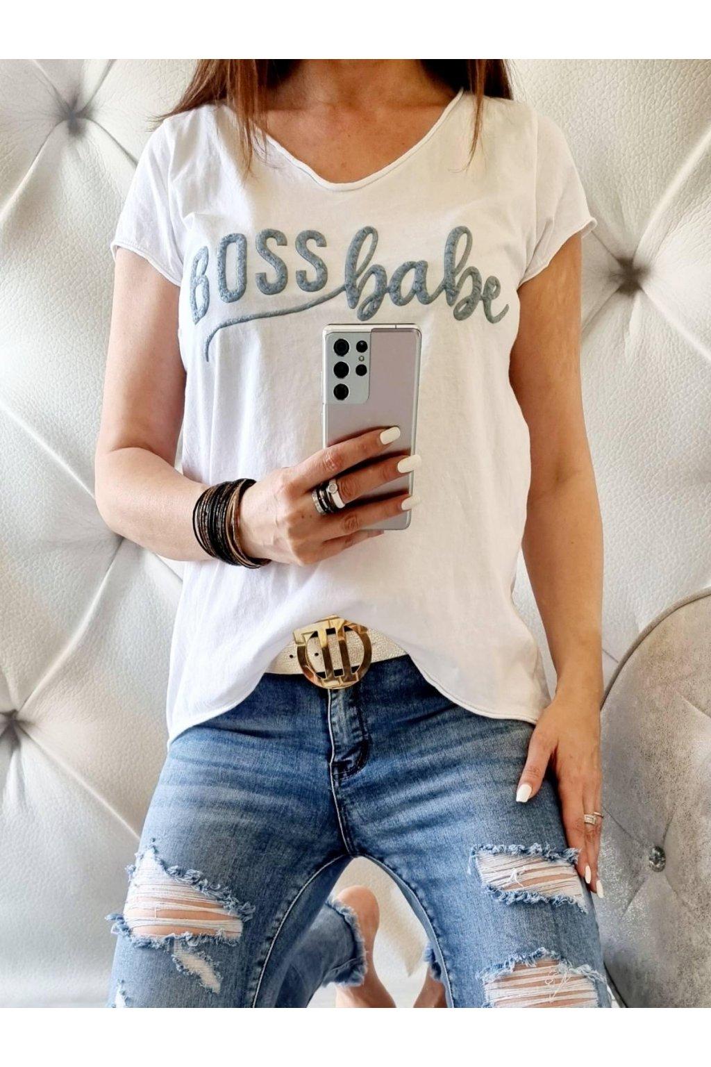 dámské triko boss trendy bílé