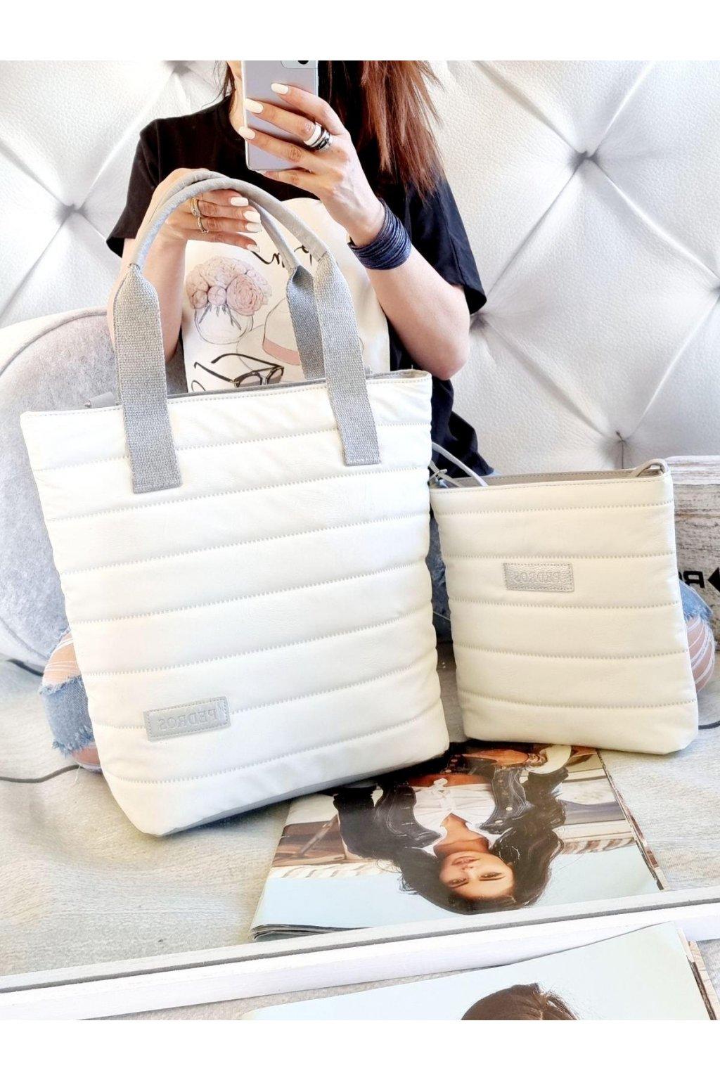 komplet kabelek pedros značková nadčasová kabelka bílá