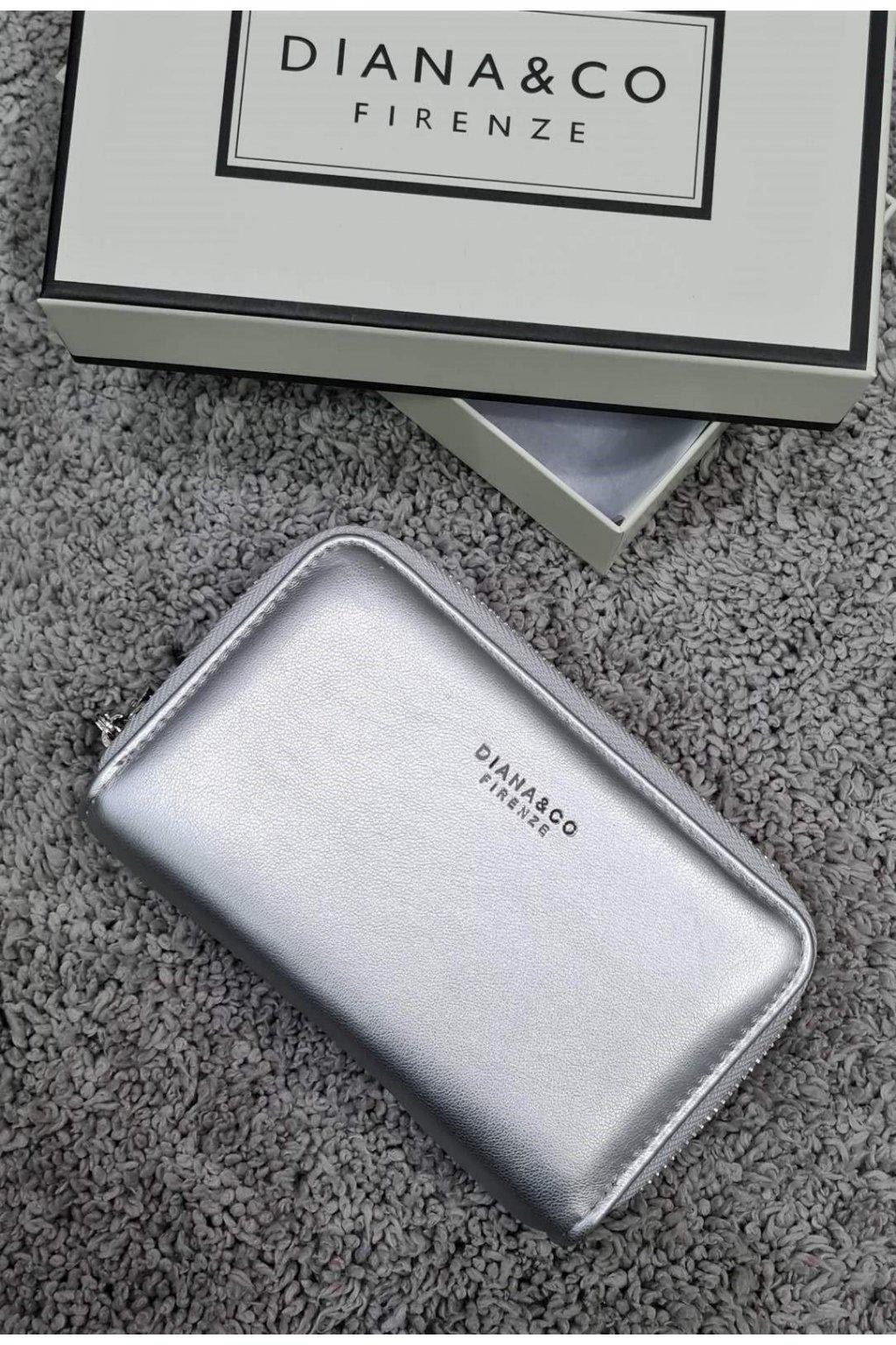 Značková peněženka Diana&co stříbrná