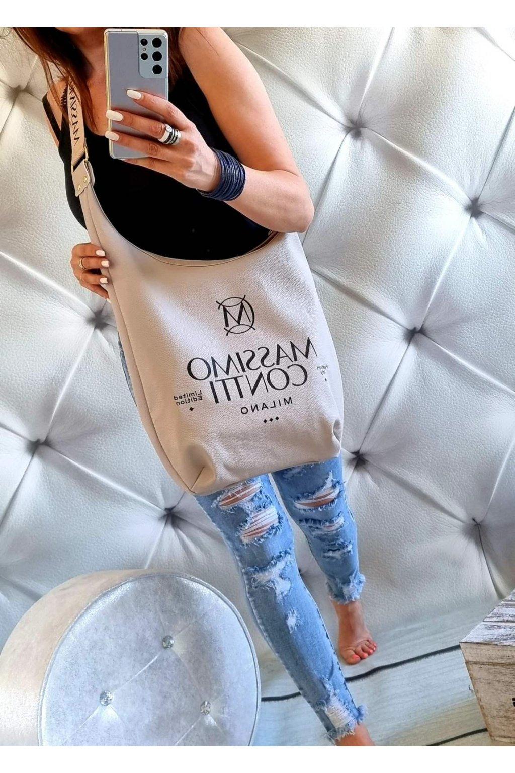 massimo contti pytel béžový italy fashion značková luxusní kabelka